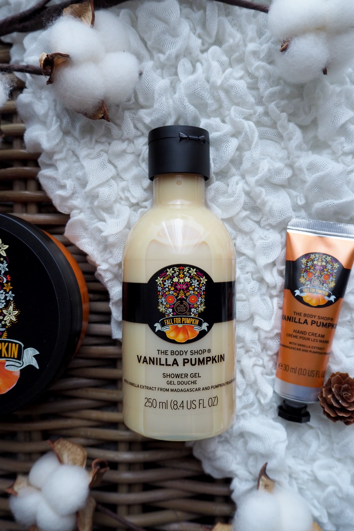 gel douche vanilla pumpkin the body shop