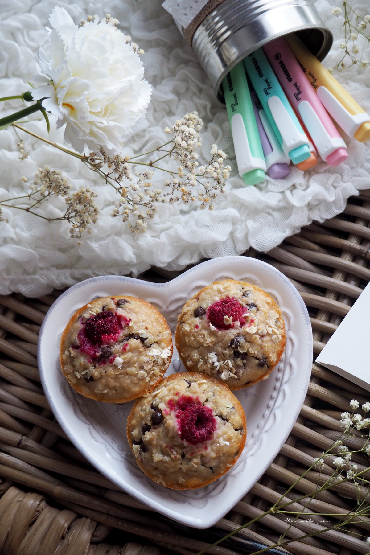 Recette muffins chocolat framboise